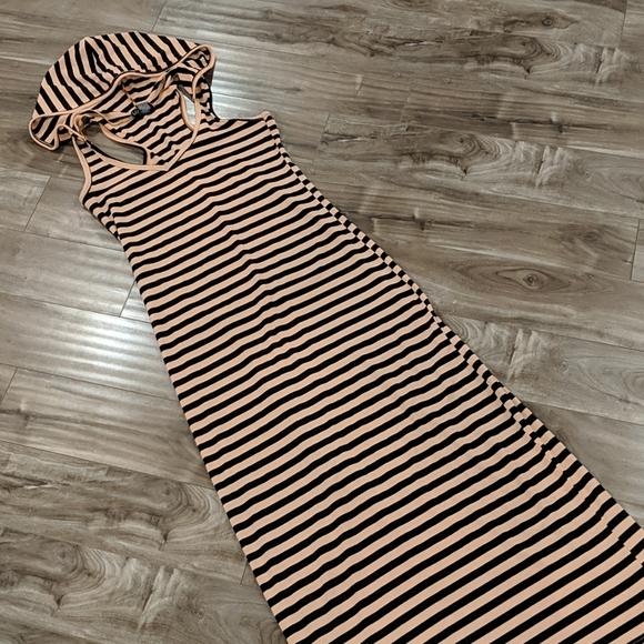 ❄️3/$25 Striped Hoodie Maxi Dress